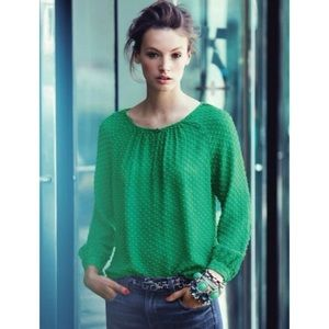 J.Crew factory keyhole peasant top